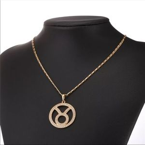 New Taurus Zodiac Sign 18k gold plated Necklace
